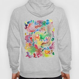 Abstract unconscious animals Hoody