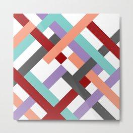 "Geometric Print ""Broken Weave"" Metal Print"