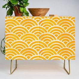 Japanese Seigaiha Wave – Marigold Palette Credenza