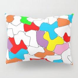 Multi-colored Shapes  Pillow Sham