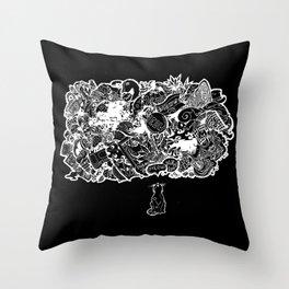 Cat Meows Throw Pillow