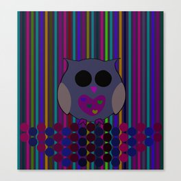 owl/colorful/bright/ Canvas Print