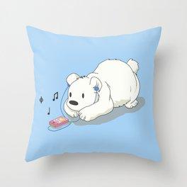 Polar Beats Throw Pillow