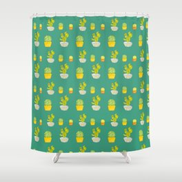 Greeny Cactus Shower Curtain