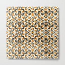 Orange Garden Pattern 2 Metal Print