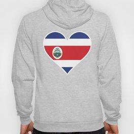 Costa Rican Flag Heart Hoody