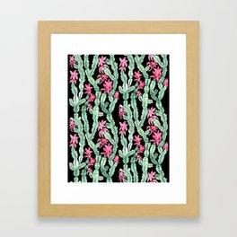 Christmas Cactus Version 2. Framed Art Print