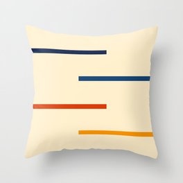 Abstract Minimal Retro Stripes Bikram Throw Pillow