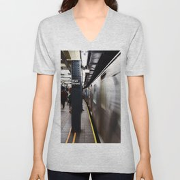 Wallstreet Subway Unisex V-Neck