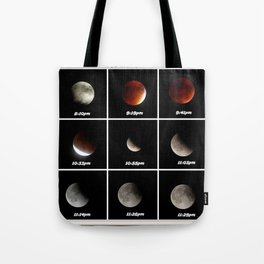 Supermoon & Eclipse -  September 27, 2015 Tote Bag