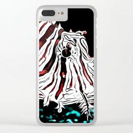 poisonous exotic lionfish va2s Clear iPhone Case