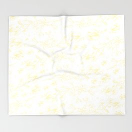 Golden pohutukawa branches Throw Blanket