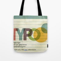 typo Tote Bags featuring typo by Vin Zzep