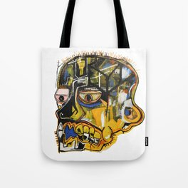Skull Homage to Basquiat Tote Bag