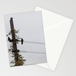 Birds on the wire Stationery Cards