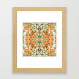 Humming Bird Orange Framed Art Print