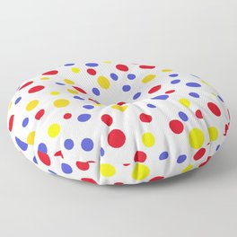 drops of colourful dots Floor Pillow
