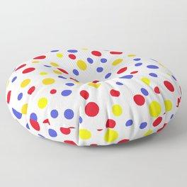 drops of colourful dots Floor Pillow