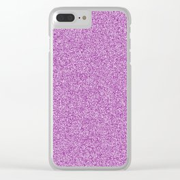 Melange - White and Purple Violet Clear iPhone Case