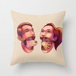 dog people vs cat people Throw Pillow