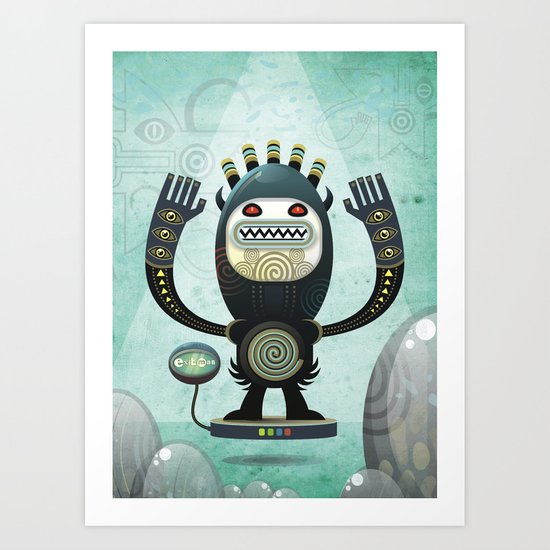 Alien Guard Art Print