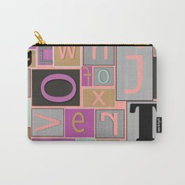 fun bright alphabet jumble Carry-All Pouch