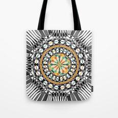 High contrast mandala Tote Bag