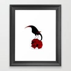 Bird and Skull Framed Art Print