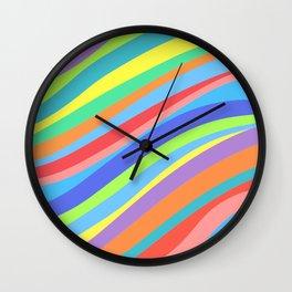 Rainbow Lines Variant 2 Wall Clock