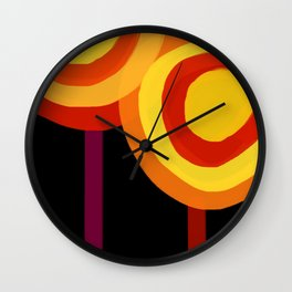 Hot Lollipops Wall Clock