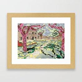 Garden at the Costa Brava Framed Art Print