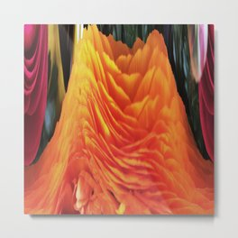 491 - Abstract Flower Design Metal Print
