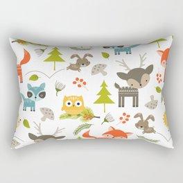 Woodland Animals Rectangular Pillow