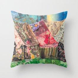 Campsite Throw Pillow