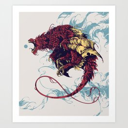 Wyvern Art Print