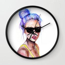 Little Blue Bun Wall Clock