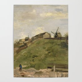 The hill of Montmartre with Stone Quarry Poster
