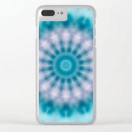 Sky blue kaleidoscope Clear iPhone Case