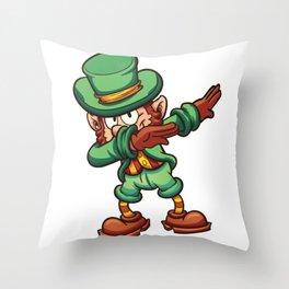 Dabbing Leprechaun St Patricks Day Dab Kids Boys Men Throw Pillow