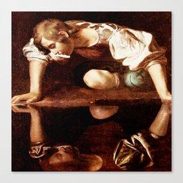 Michelangelo Merisi da Caravaggio, Narcissus at the Source, oil on canvas, 1597-99 Canvas Print