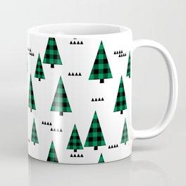 Christmas Tree forest plaid camping triangle geometric minimal festive holiday Coffee Mug