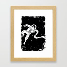 Space Man Framed Art Print
