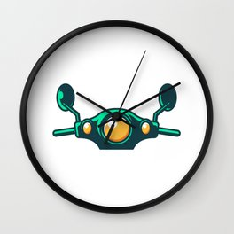 Scooter Vintage Retro Moped And Scooter Gifts Wall Clock