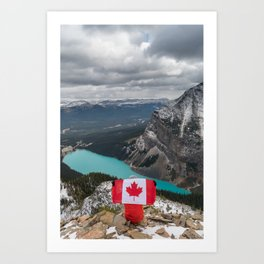Canada from above. Art Print