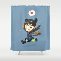 happiness Shower Curtains featuring Happiness by Freeminds