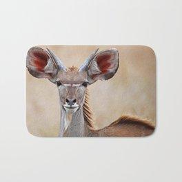 Young Kudu, Africa wildlife Bath Mat