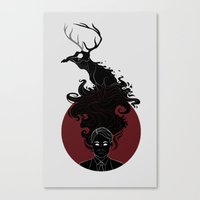 hannibal Canvas Prints featuring Hannibal by Sutexii