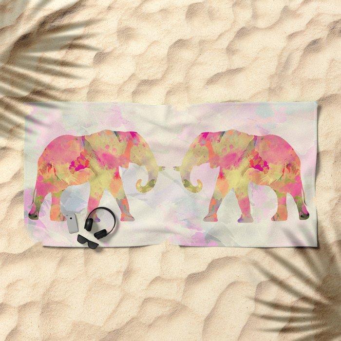 Abstract Elephant II Beach Towel