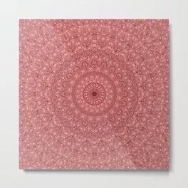 Brown salmon kaleidoscope . Metal Print