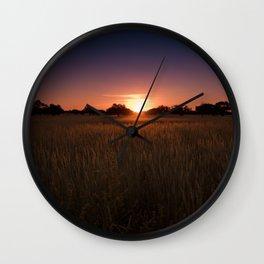 African Kalahari Sunset - Landscape Photography #Society6 Wall Clock